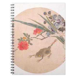 Caderno Espiral Flor e sapo - Zhang Xiong (chinês, 1803-1886)