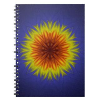Caderno Espiral Flor real de Sun