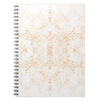 Caderno Espiral Flor Rorschach da textura da parede