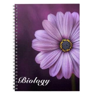 Caderno Espiral Flor roxa da pétala