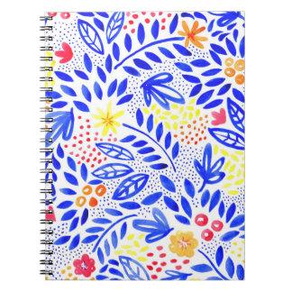 Caderno espiral floral corajoso do Belle