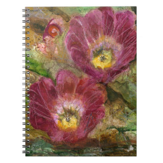 Caderno Espiral Flores cor-de-rosa do deserto da arizona