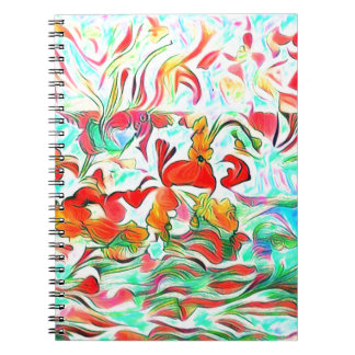 Caderno Espiral Flores na água