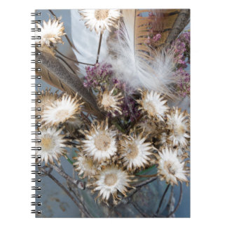 Caderno Espiral Flores secadas 1