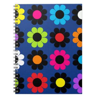 Caderno Espiral Flower power