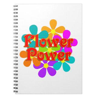 Caderno Espiral Flower power bonito