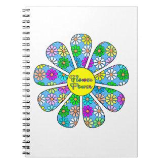 Caderno Espiral Flower power feliz