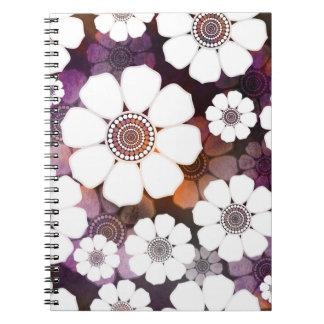 Caderno Espiral Flower power roxo Funky