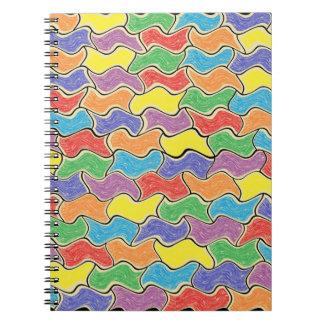 Caderno Espiral Flutuações coloridas
