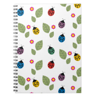 Caderno Espiral Folha e besouro