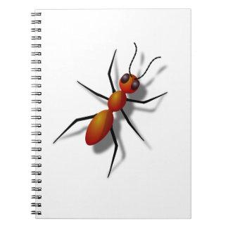 Caderno Espiral Formiga vermelha grande