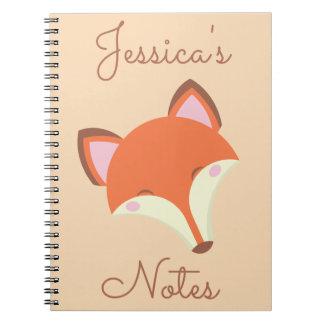 Caderno Espiral Fox de Kawaii