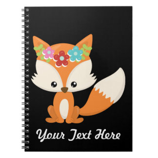 Caderno Espiral Fox do outono de Boho