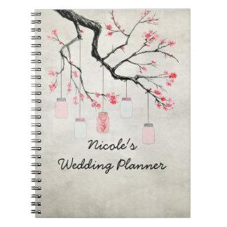 Caderno Espiral Frascos de pedreiro do país que Wedding o