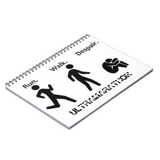 Caderno Espiral Funcionamento. Caminhada. Desespero. Ultramarathon
