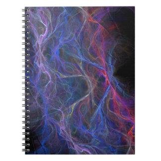 Caderno Espiral Fundo abstrato do relâmpago
