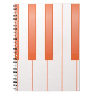 Caderno Espiral Fundo chave do piano