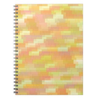 Caderno Espiral fundo colorido