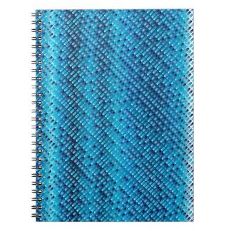 Caderno Espiral Fundo do azul da sarja de Nimes