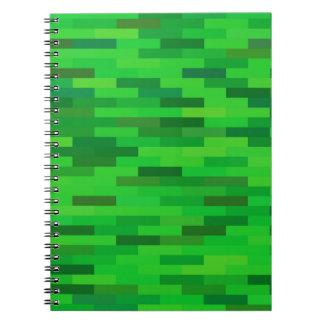 Caderno Espiral fundo verde