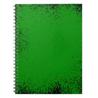 Caderno Espiral Fundo verde do Grunge