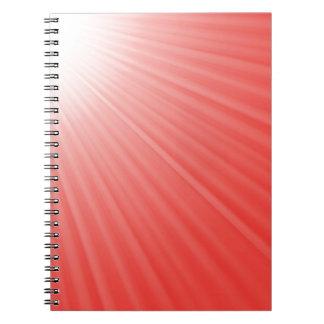 Caderno Espiral fundo vermelho