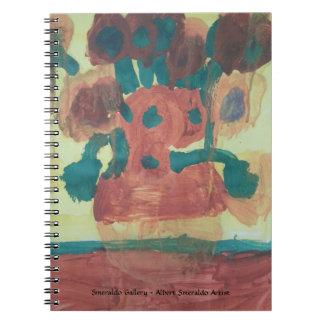 """Caderno Espiral Galeria do """"interpretação de Smeraldo girassol """""""