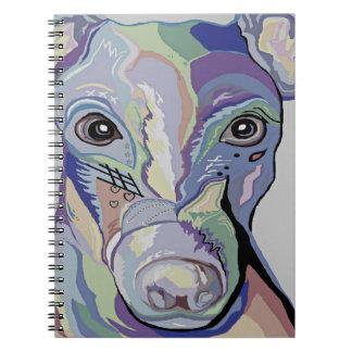Caderno Espiral Galgo em cores da sarja de Nimes