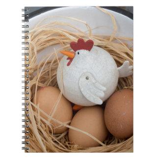 Caderno Espiral Galinha & ovos