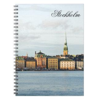 Caderno Espiral Gamla Stan em Éstocolmo, suecia
