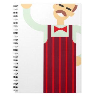 Caderno Espiral Garçom de vinho