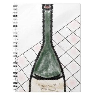 Caderno Espiral Garrafa de vinho