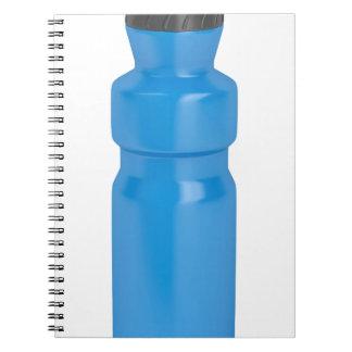 Caderno Espiral Garrafa plástica azul