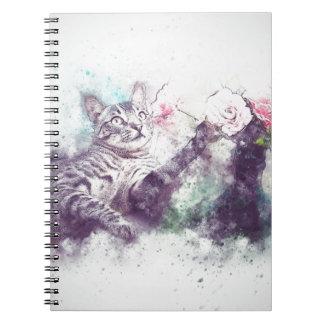 Caderno Espiral gato