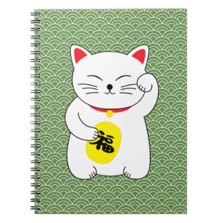 Caderno Espiral Gato afortunado de Maneki Neko