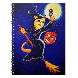 Caderno Espiral Gato da bruxa da noite