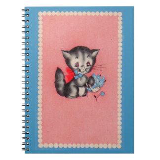 Caderno Espiral gato doce do gatinho