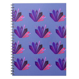 Caderno Espiral Gemas do design na edição azul