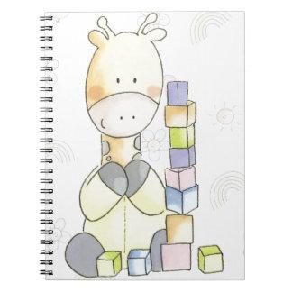 Caderno Espiral Girafa