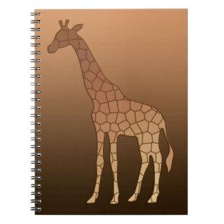 Caderno Espiral Girafa, cobre e Brown geométricos modernos