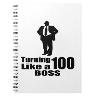 Caderno Espiral Girando 100 como um chefe