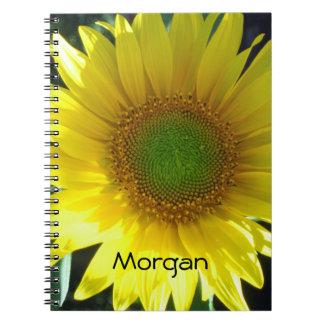 Caderno Espiral Girassol amarelo brilhante