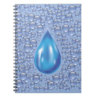 Caderno Espiral gota da água