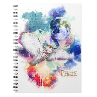 Caderno Espiral Grande coruja branca do Phate-Vu Verian-The
