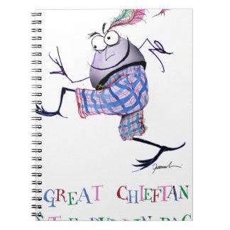 Caderno Espiral grande puddin-raça chieftan do o'the