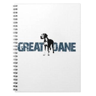 Caderno Espiral Great dane