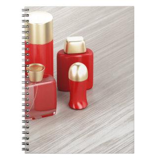 Caderno Espiral Grupo dos produtos cosméticos dos homens