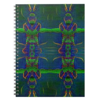 Caderno Espiral Guardas psicadélicos