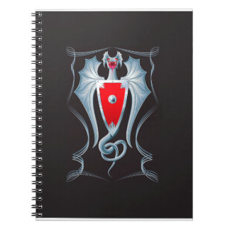 Caderno Espiral Guardião de prata do protetor do dragão