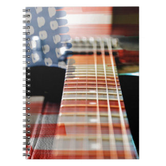 Caderno Espiral Guitarra elétrica da guitarra da bandeira dos EUA